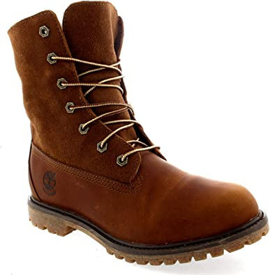 Aguanieve Sermón Rusia  Amazon.com | Timberland Womens Authentic Teddy Fleece Rain Snow Leather  Winter Boots - Brown - 6 | Ankle & Bootie