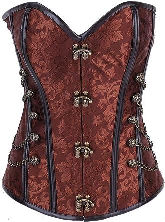 15757e94e4 Amazon.com  Yishan Steampunk Corsets Harness Belt Corsets and ...
