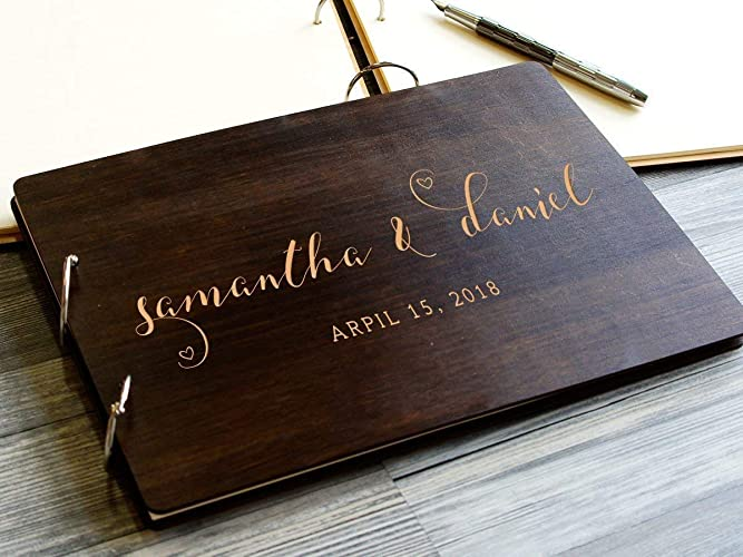Personalized Wedding Guest Book.Amazon Com Custom Wedding Guest Book Rustic Guestbook Wedding