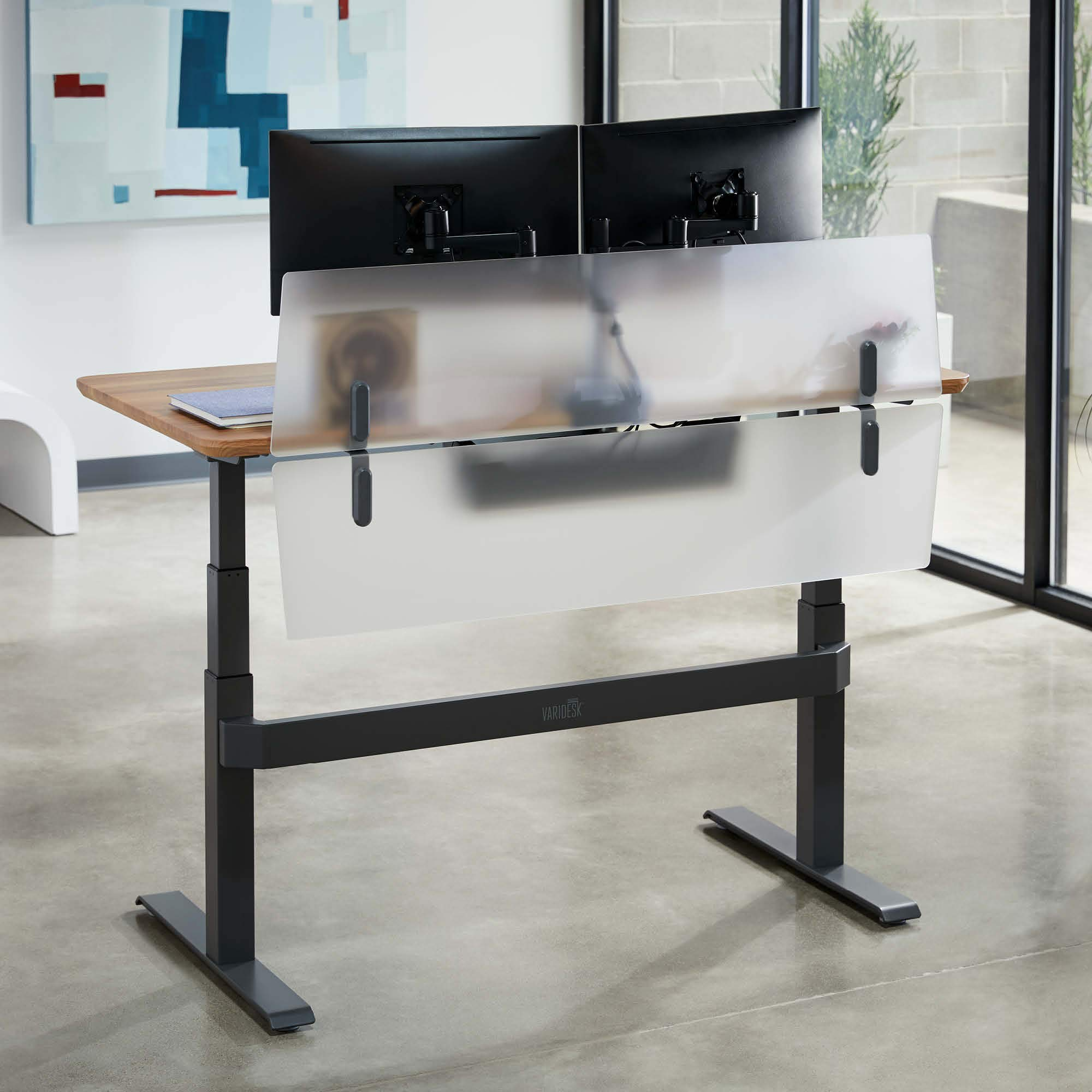 VARIDESK - ProDesk Electric Privacy and Modesty Panel 60 - Office Partition by VARIDESK (Image #2)