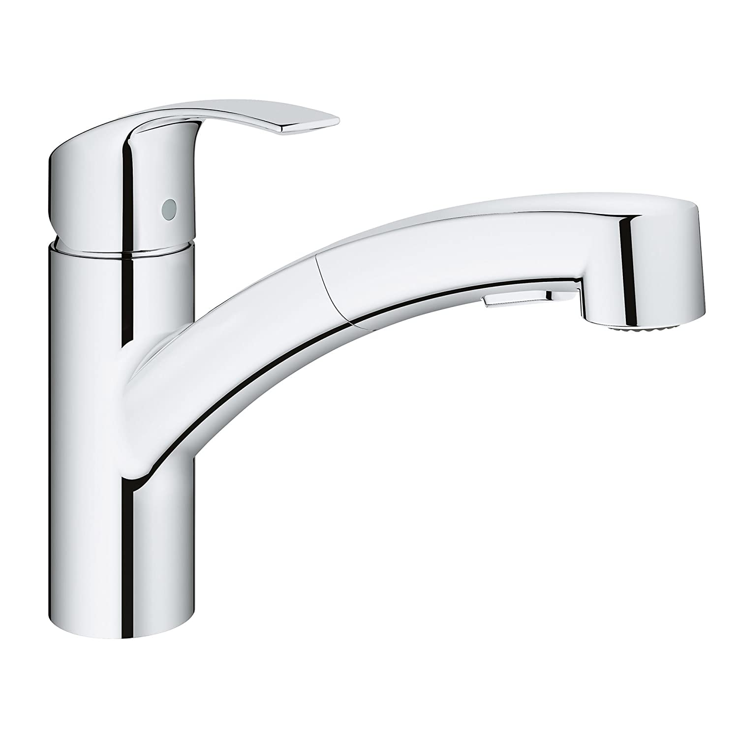 Grohe 30306000 Eurosmart Concetto Single-Handle Pull-Out Sprayer Kitchen Faucet in StarLight Chrome