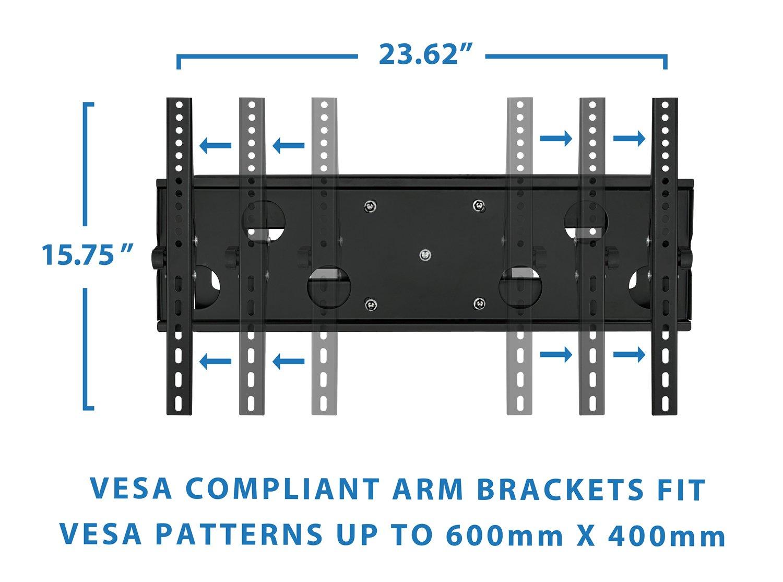 amazon com mount it articulating tv wall mount for 32 u201d u2013 65 u201d lcd