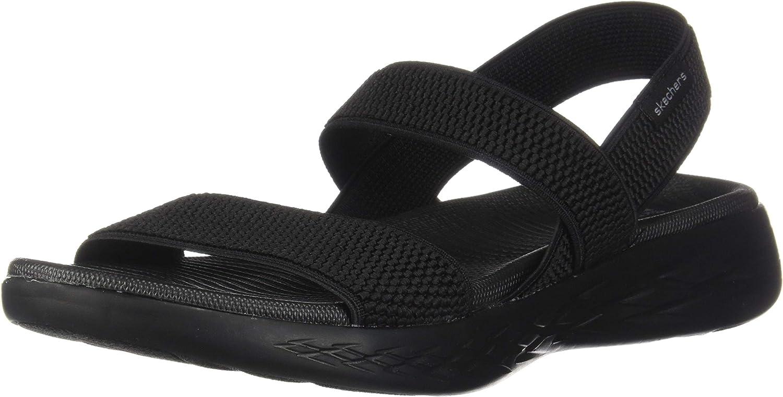 Skechers On-The-go 600-Flawless, Sandalias de Talón Abierto para Mujer