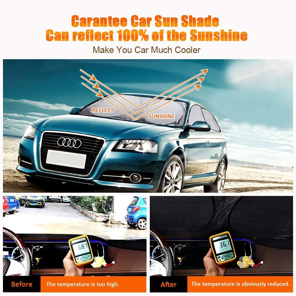 amazon com careantee windshield sun shade 100 uv ray reflector rh amazon com Black 1990 Audi 100 1990 Audi 200