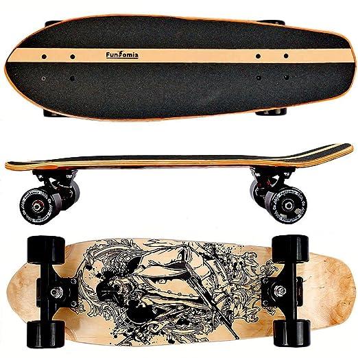 26 opinioni per FunTomia® Skateboard 66cm- 7ply strati di acero canadese o bambù- Con o senza
