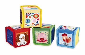 Amazon Com Earlyears Soft Baby Blocks With Pictures Textures