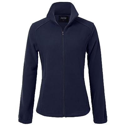 JayJay Women Ultra Soft Breathable Full-Zip Fleece Jersey Jacket