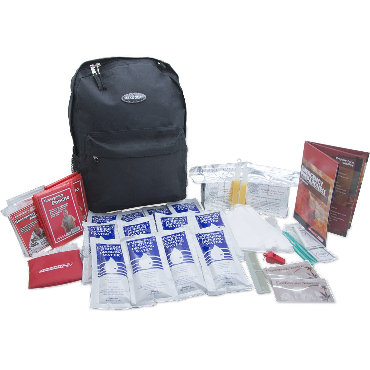 Quick Start Emergency Kit, 2 and 4 Person, Emergency Zone Brand (2 Person)