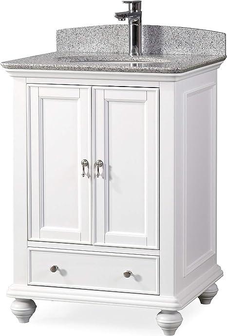 Amazon Com 25 Gillian Small Narrow Powder Room White Bathroom Vanity 9805w Kitchen Dining
