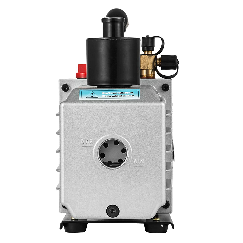 4CFM 1-Stage Bestauto Vacuum Pump 4CFM 1//4HP Air Vacuum Pump HVAC A//C Air Refrigerant Rotary Vane Vacuum Pump Single Stage 1 Valve AC Manifold Gauge Set