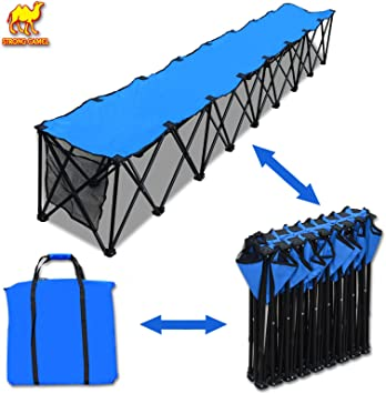 Strong Camel Folding Sideline Bench 8 Seater Outdoor Sports Waterproof carrybag