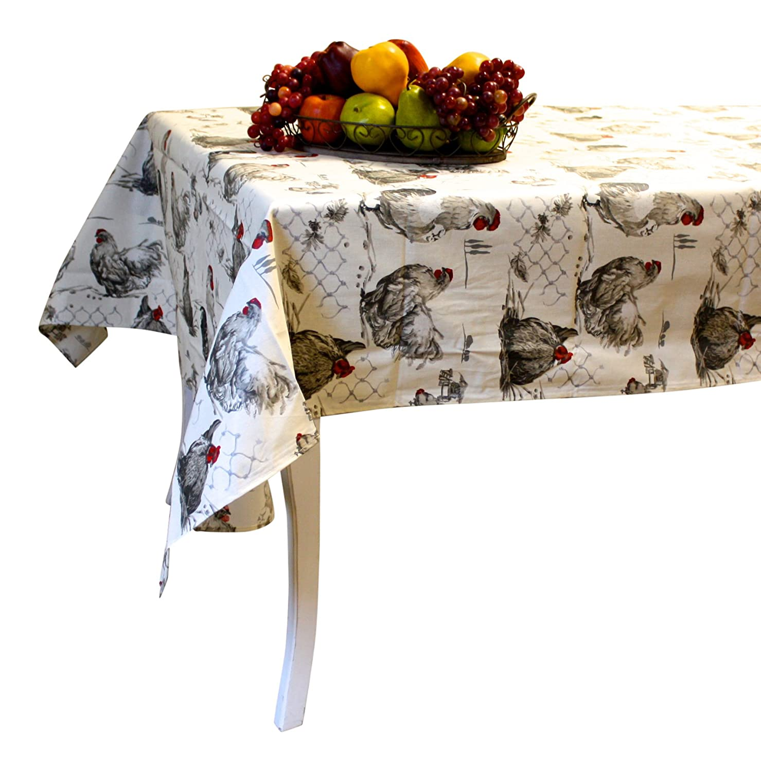 Amazon.com: Rooster Tablecloth, French vintage design \