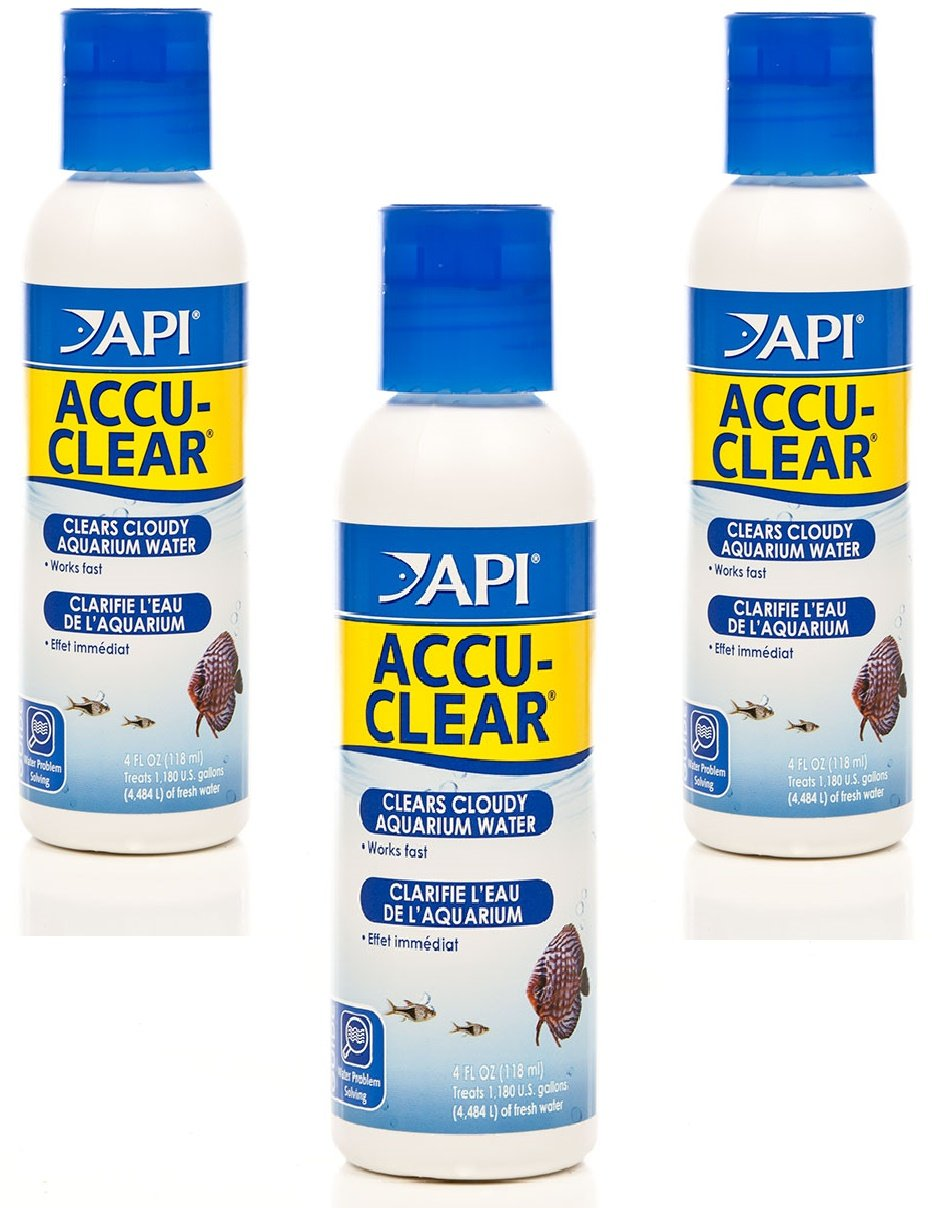 (3 Pack) API Accu-Clear Water Clarifier 8-Ounces each Worldwide Sourcing NA