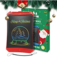 Newyes Colorful Robot pad 8.5 Inch LCD Writing Tablet Electronic Doodle Pads Drawing Board Gifts for Kids (Colorful red)