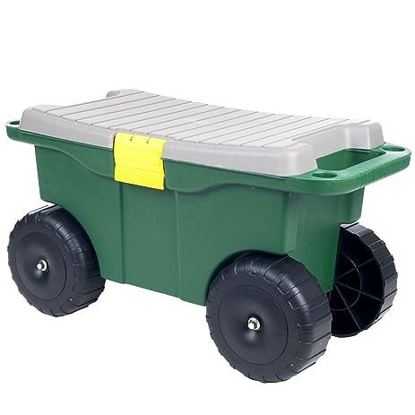 Wonderful Inlifiny 2 In 1 20u0026quot; Sit Plastic Garden Storage Cart ...