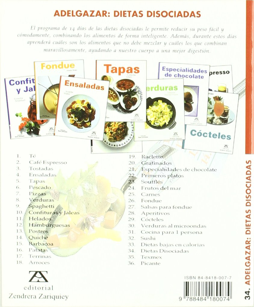 Adelgazar : dietas disociadas: JOHANNA HANDSCHMANN: 9788484180074: Amazon.com: Books