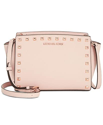 5cb6879120eb Amazon.com  Michael Kors Selma Studded Messenger Crossbody