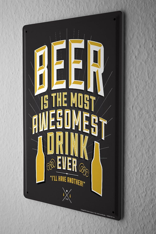Amazon.com: Cartel de chapa cerveza Bar Pub mejor bebida ...