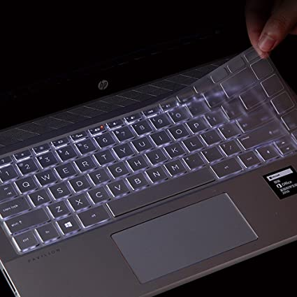 for HP Pavilion x360 14 Keyboard Cover Soft-Touch Clear Protective Skin for HP Pavilion