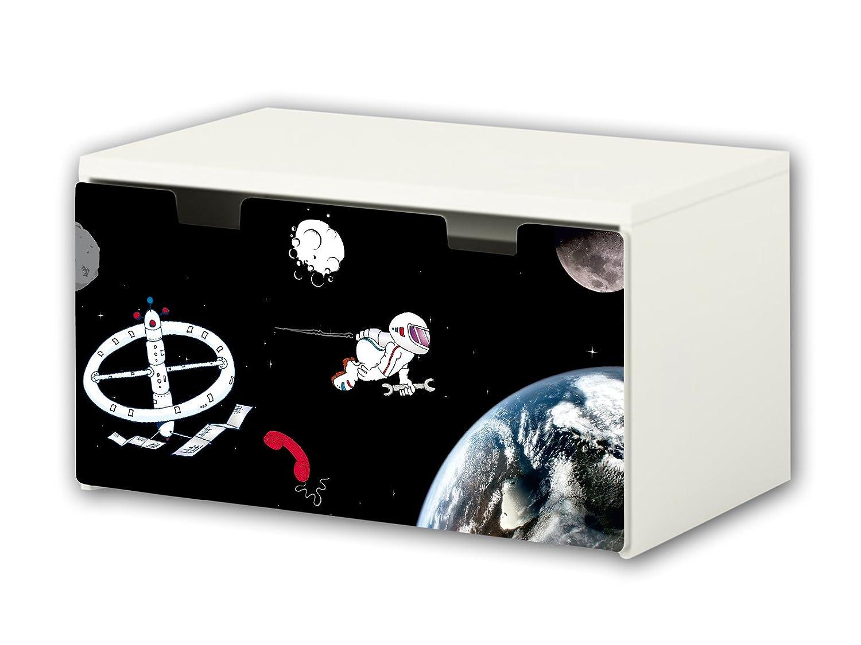 Universe Furniture Film | BT30 | Furniture sticker with butterfly Motive | matching to the children's storage bench STUVA of IKEA (90 x 50 cm) Furniture Not Included | STIKKIPIX STIKKIPIX®