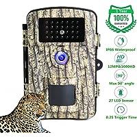 """LongOu Wildkamera Jagdkamera 1080P 12MP IP66 Wildkamera mit Bewegungsmelder Nachtsicht aktiviert IR-LEDs und 2,31"""" LCD Display Wildtierkamera"""