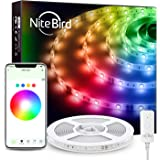 NiteBird Smart WiFi LED Strip Lights 16.4ft Works with Alexa Google Home, App and Voice Control, Music Sync, 16 Million RGB C
