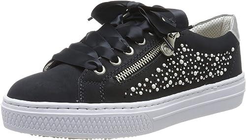 Rieker Damen Sneaker silber N9110 90