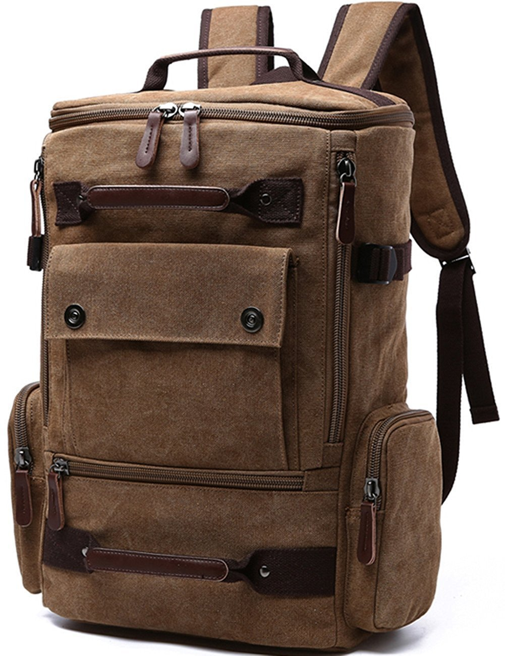 Kaukko Bags - Canvas Backpack Fashion Travel Backpack School Rucksack  Casual Vintage Daypack 9a17284ed579a