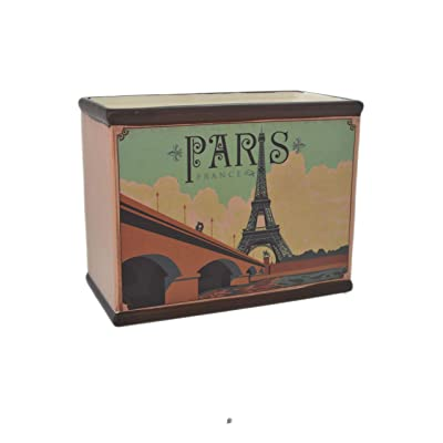 "7.6"" Rectangular Vintage Art Deco Eiffel Tower Paris France Flower Pot Planter : Garden & Outdoor"
