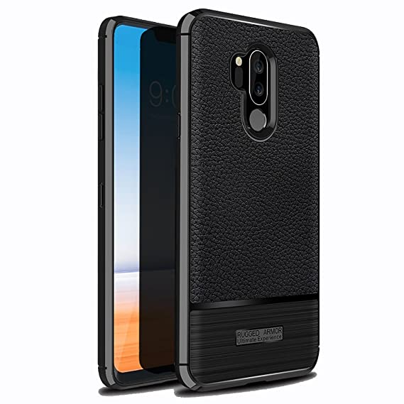 reputable site 41f08 bf3b5 LG G7 ThinQ Case,LG G7 Case,Setber Ultra Thin Soft Silicone Case with  Resilient Shock Absorption and Carbon Fiber Design for LG G7 ThinQ -Black