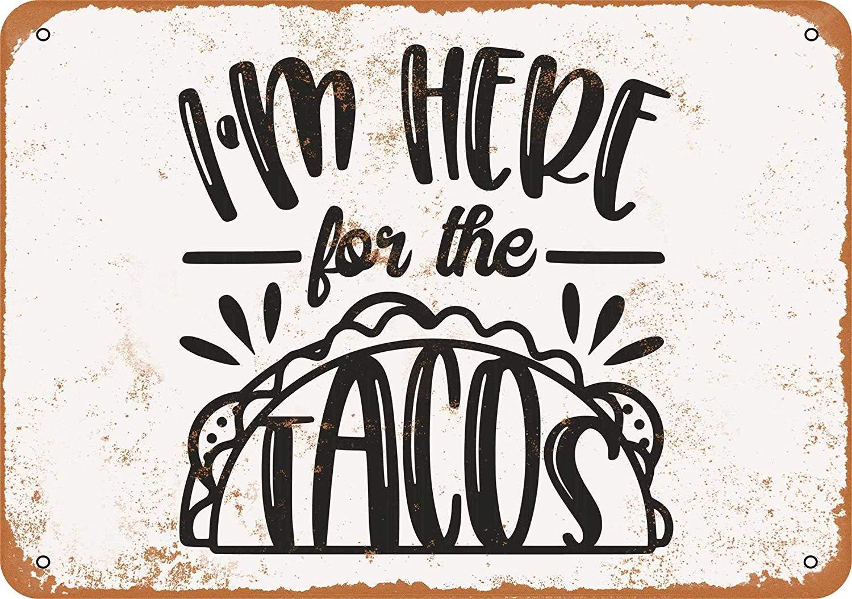 MNUT Targa in Metallo con Scritta Im Here for The Tacos 20,3 x 30,5 cm