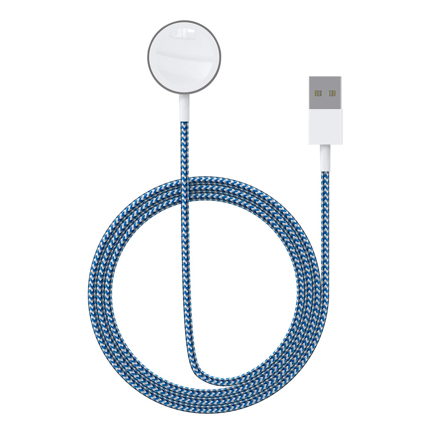 ASIANE Compatible for Apple iWatch Charger,Magnetic Wireless Portable Charger,iWatch Nylon Braided Charging Cable Cord Compatible for Apple Watch Series 4 3 2 1 All 44mm 40mm 42mm 38mm by Asiane