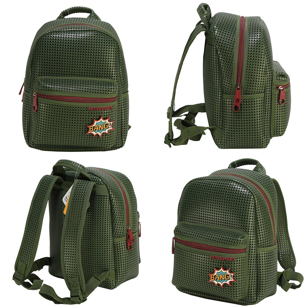 1dc3493fc14f Peterpoint Toddler Backpack School Bag Army Green Children Kids Bookbag for  Boy Girl with Add-on Patch