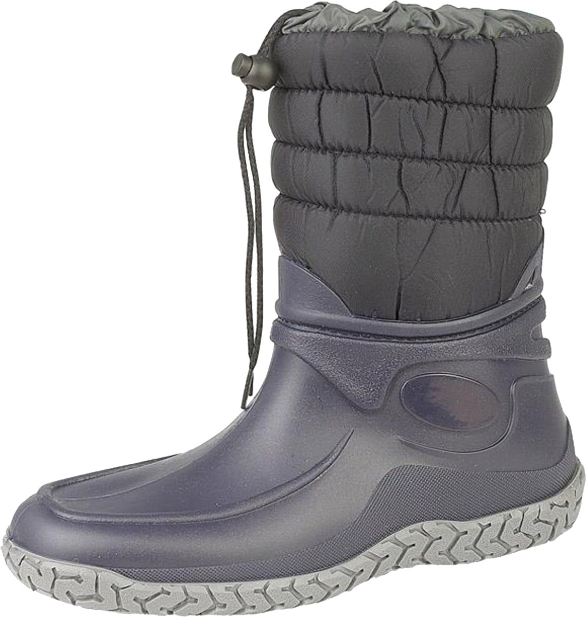 Slush Mirak Warmlined Damen Stiefel, wasserdicht, Warm, für Winter, schneesicher Welly Schuhe, Blau - Dunkelblau - Größe: 36