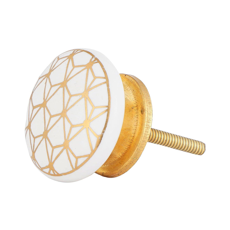 contempor/ánea Juego de 12/blanco y oro pomos tiradores de o para armarios cajones y dressers