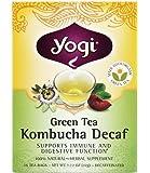 Yogi Green Tea Kombucha Decaf, 16 ct