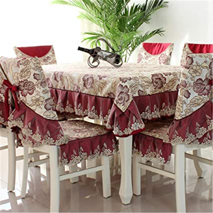 Amazon Com Zghafbes Fashion Top Grade Dining Table Cloth Chair