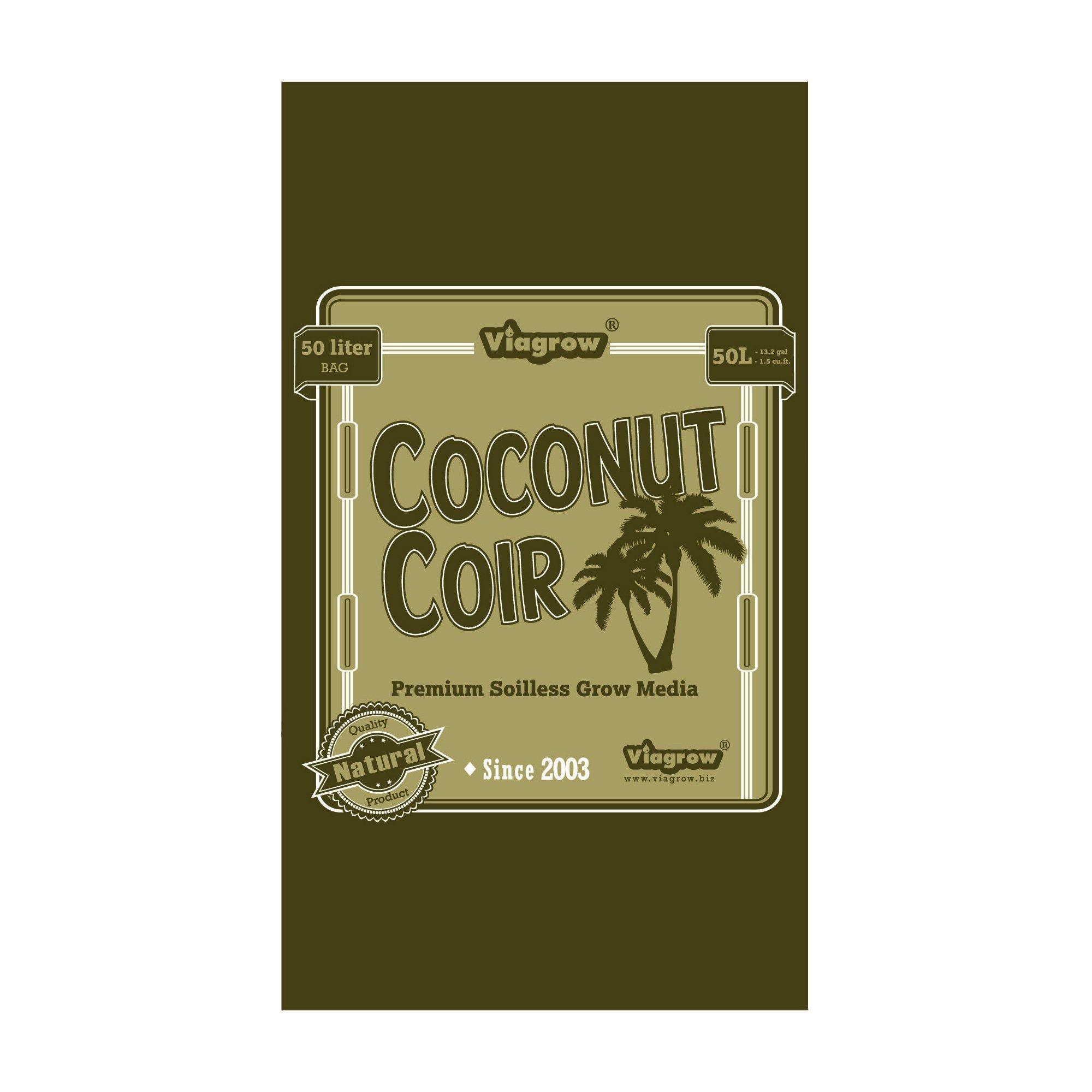 Viagrow 1.5 cu. Ft. Coco Coir Fluffed Coconut Pith Fiber Soilless Grow Media Bag