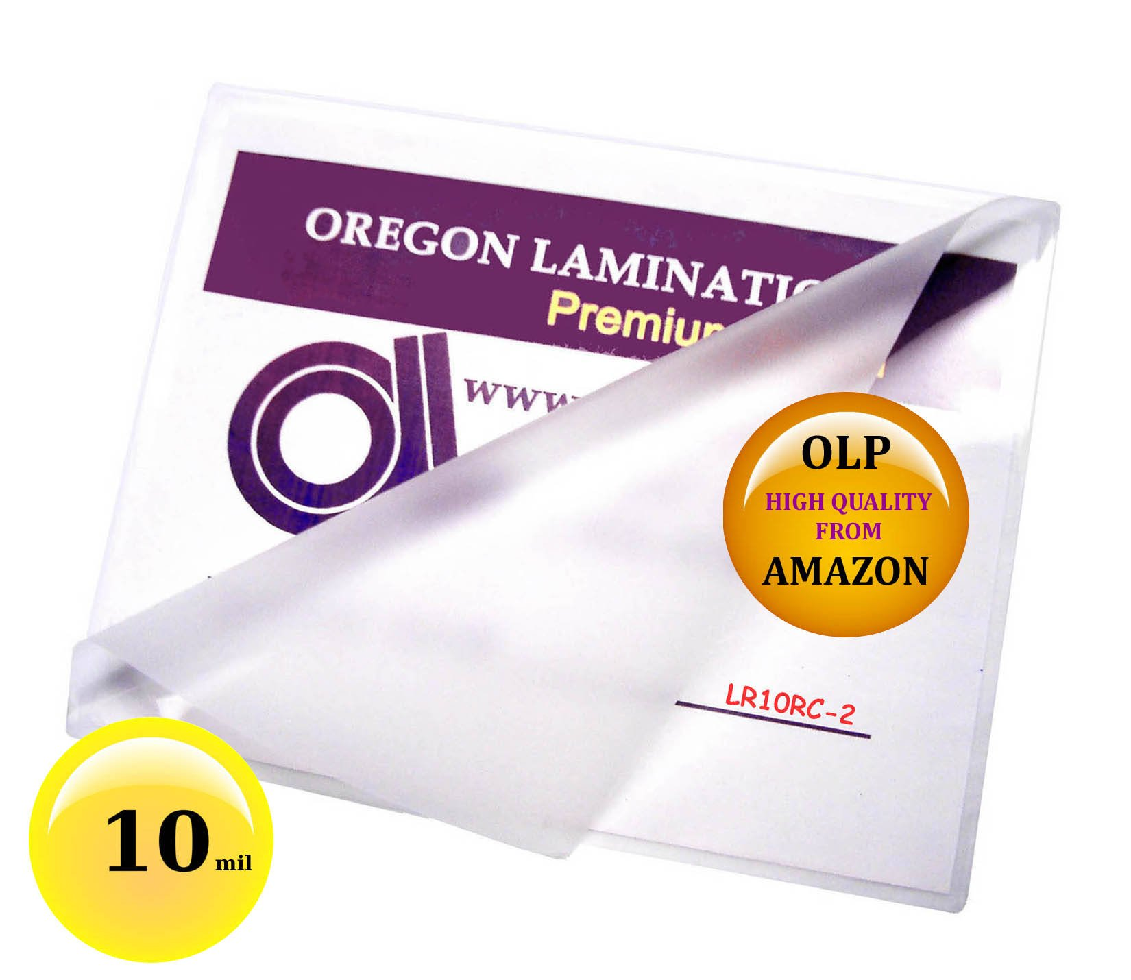 10 mil Letter Laminating Pouches 9 x 11-1/2 Hot Qty 100 by Oregon Lamination Premium