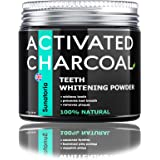 Activated Charcoal Teeth Whitening Powder – Coconut Teeth Whitener – Effective Remover Tooth Stains for a Healthier Whiter Sm