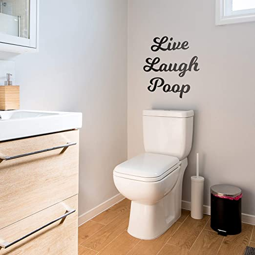 Vinyl Wall Art Decal Fun Indoor Outdoor Wall Door Dorm Room Apartment Decor Have A Nice Poop Funny Witty Household Modern Home Bathroom Decoration Quote 22 x 23