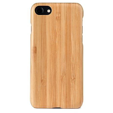 WOLA Carcasa Madera para iPhone 7/8 Air Funda de aramida y Madera bambú