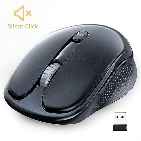 WisFox Ratón Inalambrico, Ratón Inalámbrico Silencioso 2.4G Ratón ...