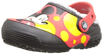 15224dca Amazon.com | Crocs Kids' Fun Lab Lined Mickey Mouse Clog | Clogs & Mules