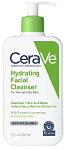 CeraVe Hydrating Face Wash   12 Fluid Ounce   Daily Facial Cleanser for Dry Skin   Fragrance Free