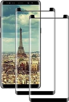 DOSNTO [2 Pack Cristal Templado Samsung Galaxy Note 8, 3D ...