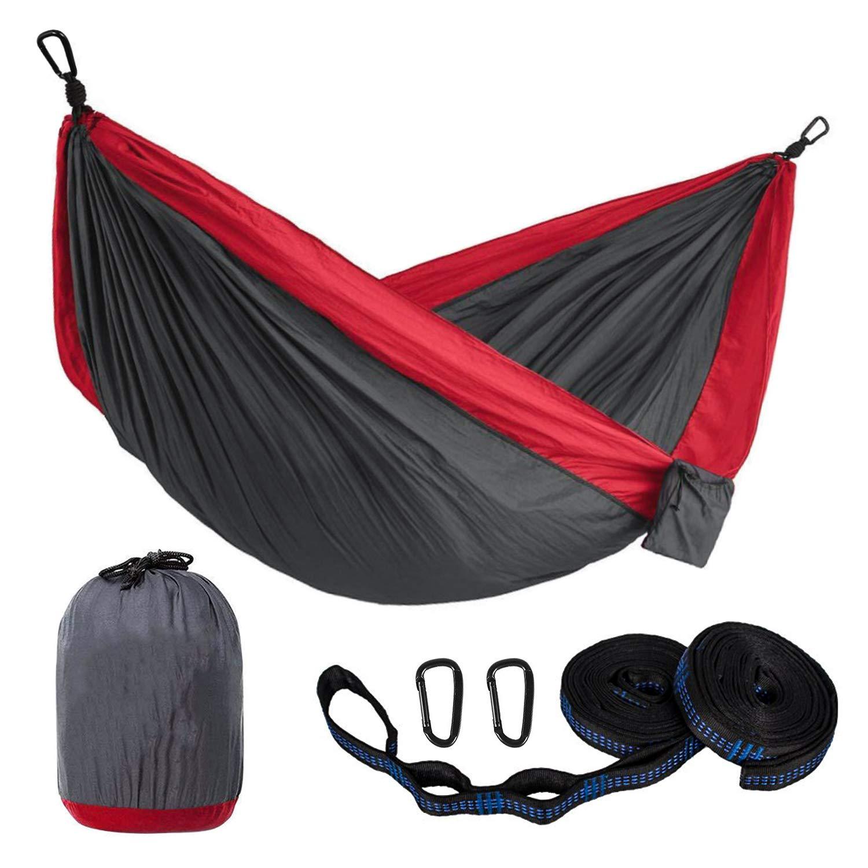 romatlink Single Double Camping Hammock with Hammock Tree Straps,Travel, Backpacking, Beach, Yard Gear Includes Nylon Straps Steel Carabiners Ultra-Lightweight Portable Hammock