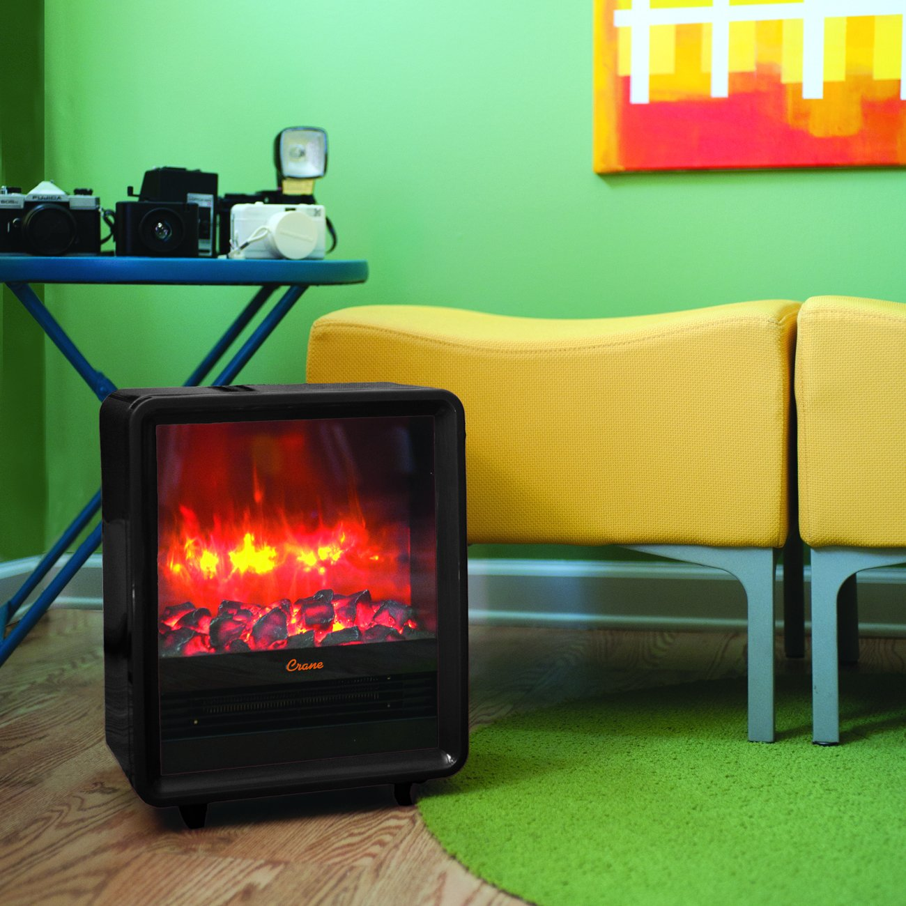 amazon com crane fireplace heater black health u0026 personal care