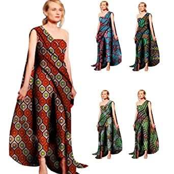 773d1985141 Amazon.com  African Clothing For Women Kitenge Cotton Wax Print Romper  Jumpsuit  Clothing