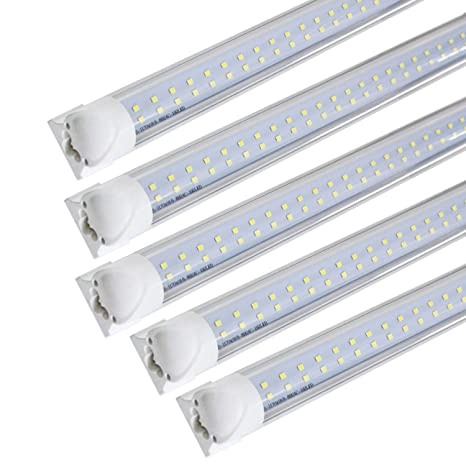 JESLED 8FT LED Tube Light Bulbs, 72W 7200LM (150W Fluorescent ...